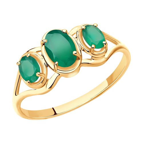Ring. Gold Agate