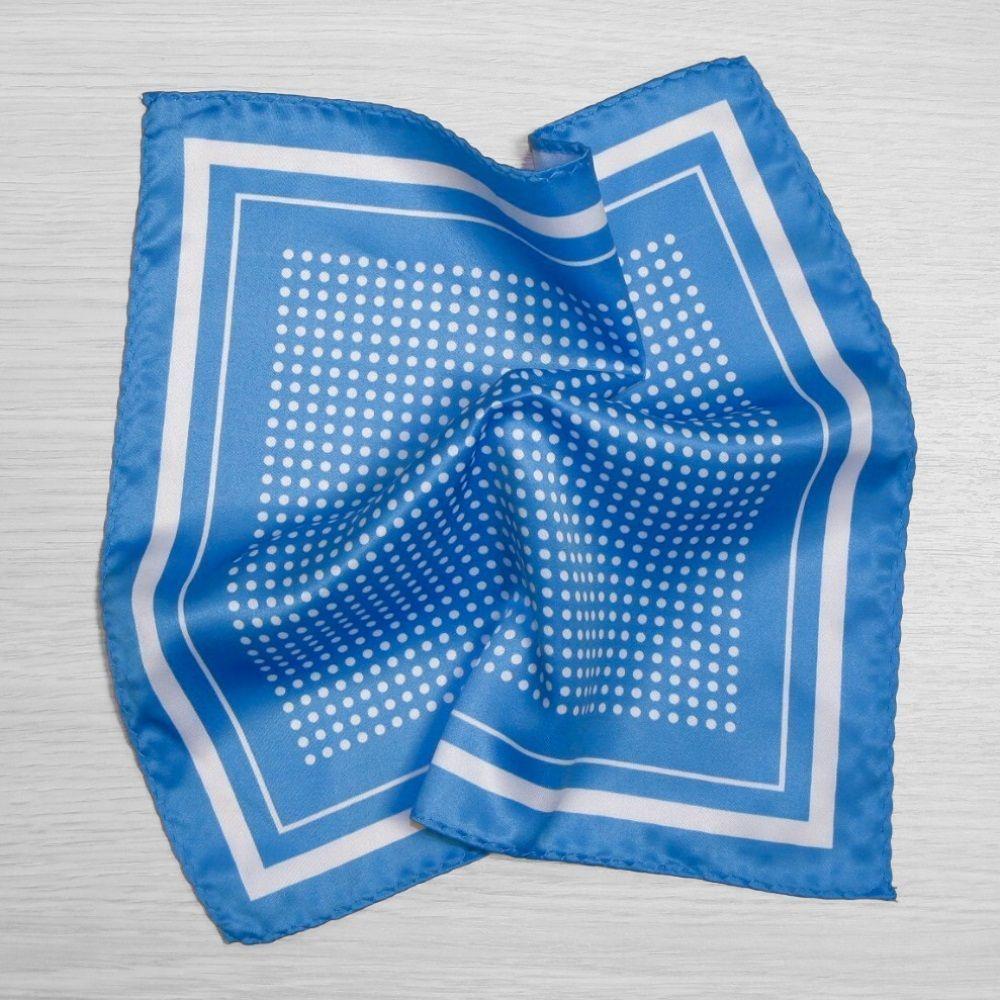 Blue Polka Dot Pocket Square, Pocket Square Jacket (53694)