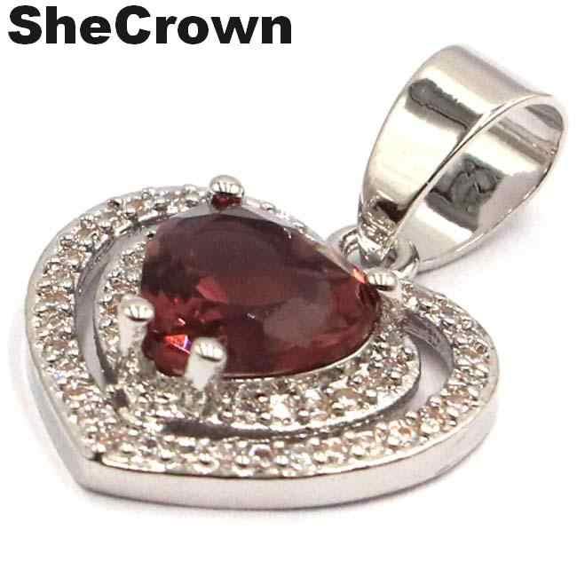23X17 Mm Cantik Bentuk Hati Ungu Amethyst Alami CZ Hadiah untuk Saudara Perempuan Liontin Perak