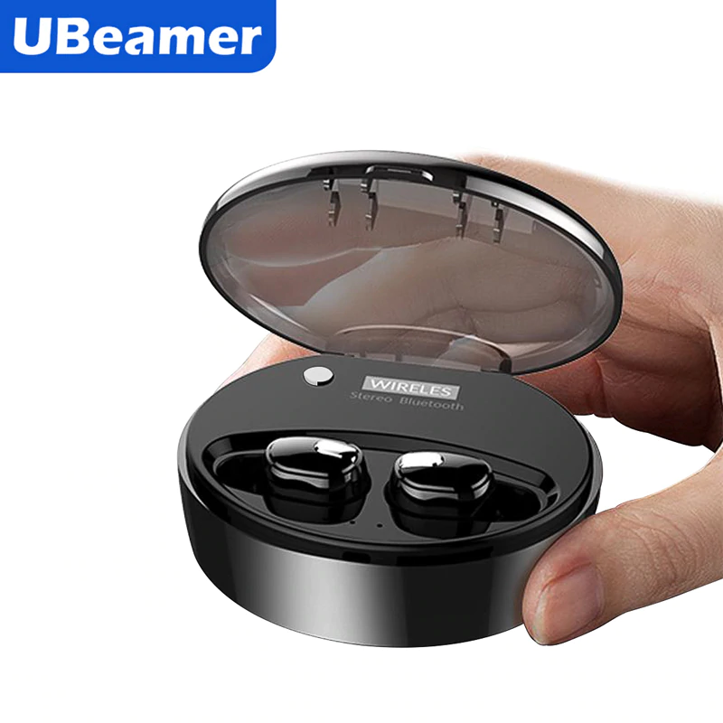 Ubeamer <font><b>M9</b></font> True Wireless Headset Stereo Noise Canceling Headphones Waterproof Bluetooth Earphones With Charging Case Gaming <font><b>TWS</b></font> image