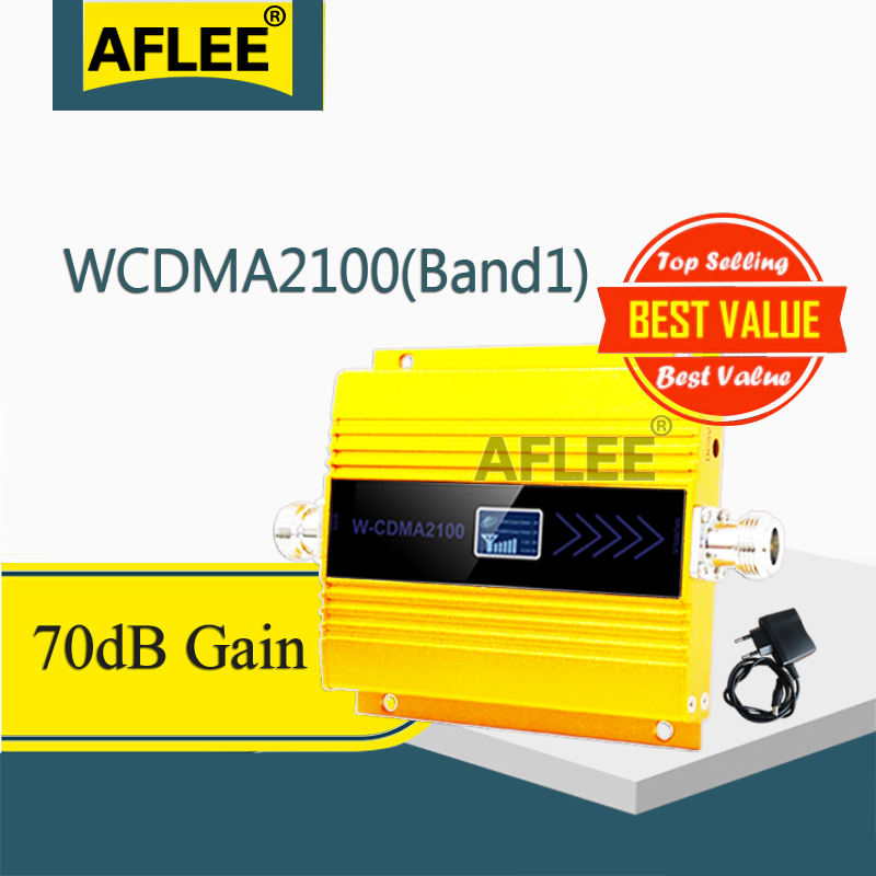 1PCS Gsm Signal Repeater 2100Mhz 3G Cellular Amplifier WCDMA UMTS 2100Mhz 3g Mobile Signal Booster Repeater Gsm 3g 4g Booseter