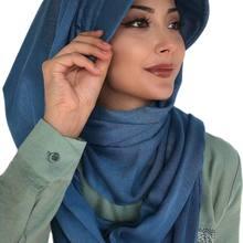 Yeni Moda Başörtüsü 2021 Kadın Müslüman Başörtüsü İslami Kıyafet Tesettür Türban Fular Eşarp Fular kemik Mavi Tokalı Hazır Şapka Şal