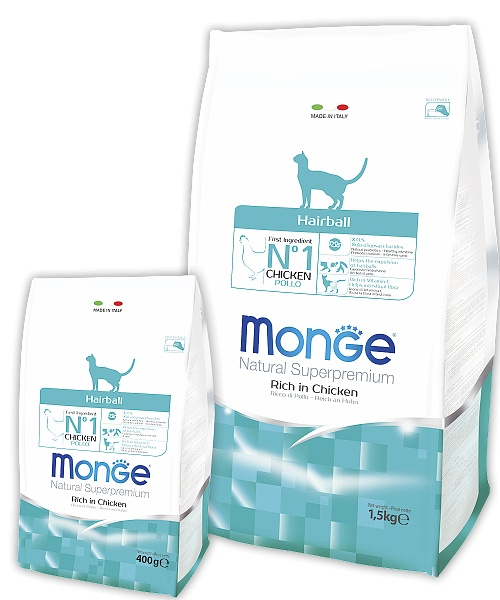 Monge Cat Hairball Cat Food Against Clumps, 10 Kg