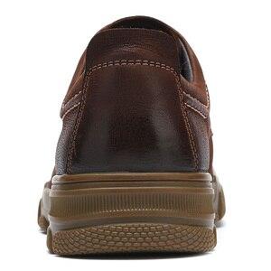 Image 4 - Camiseta nueva de piel auténtica para hombre, zapatos casuales antideslizantes y resistentes al desgaste con textura mate cómoda y ligera de tendencia de negocios para hombre
