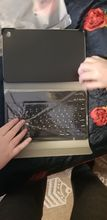 The keyboard connected quickly, works properly, but you need to get used to it. It is pack