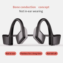 New Bluetooth 5.0 Wireless Headphones Bone Conduction Not In-Ear Headset Outdoor Sports Earphone With Mic Handsfree Headsets mix8 open ear bone conduction bluetooth v4 1 headset outdoor sports wireless bluetooth headset head mounted headphones