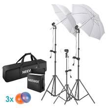 Neewer photo studio guarda-chuvas de iluminação contínua kit: guarda-chuva, suporte de luz para fotografia de retrato, estúdio e filmagem de vídeo