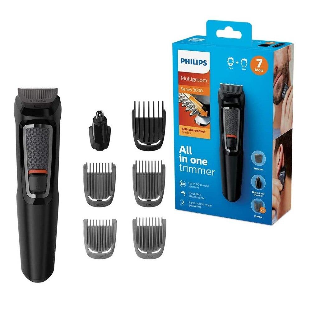 Philips MG3720 7-in-1 Gesicht und Haar Elektrischen Rasierer Clipper Rasierer Wasserdicht Waschbar Abnehmbare Präzision Bart Haar trimme