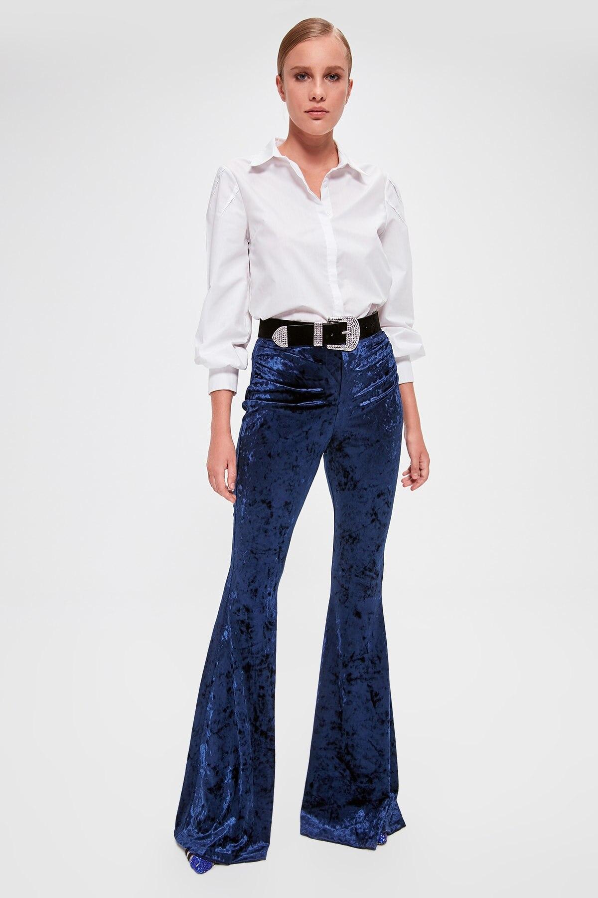Trendyol Velvet Pants TPRAW20PL0118