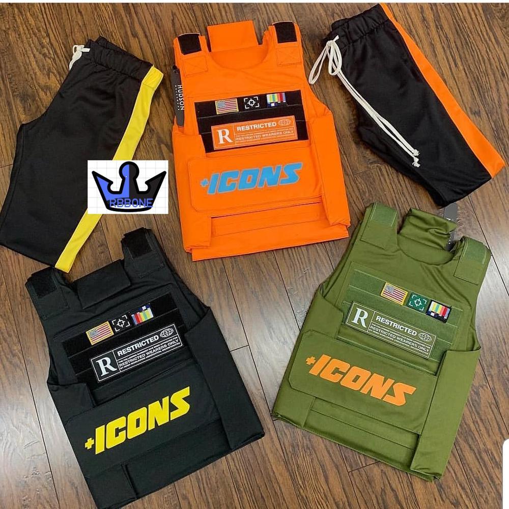 Vests Icon gilet Trending CS Vest Tactical military hiphop rapper FASHION VEST Outerwear Men's Fashion Tactica ICONS jacket vest 3