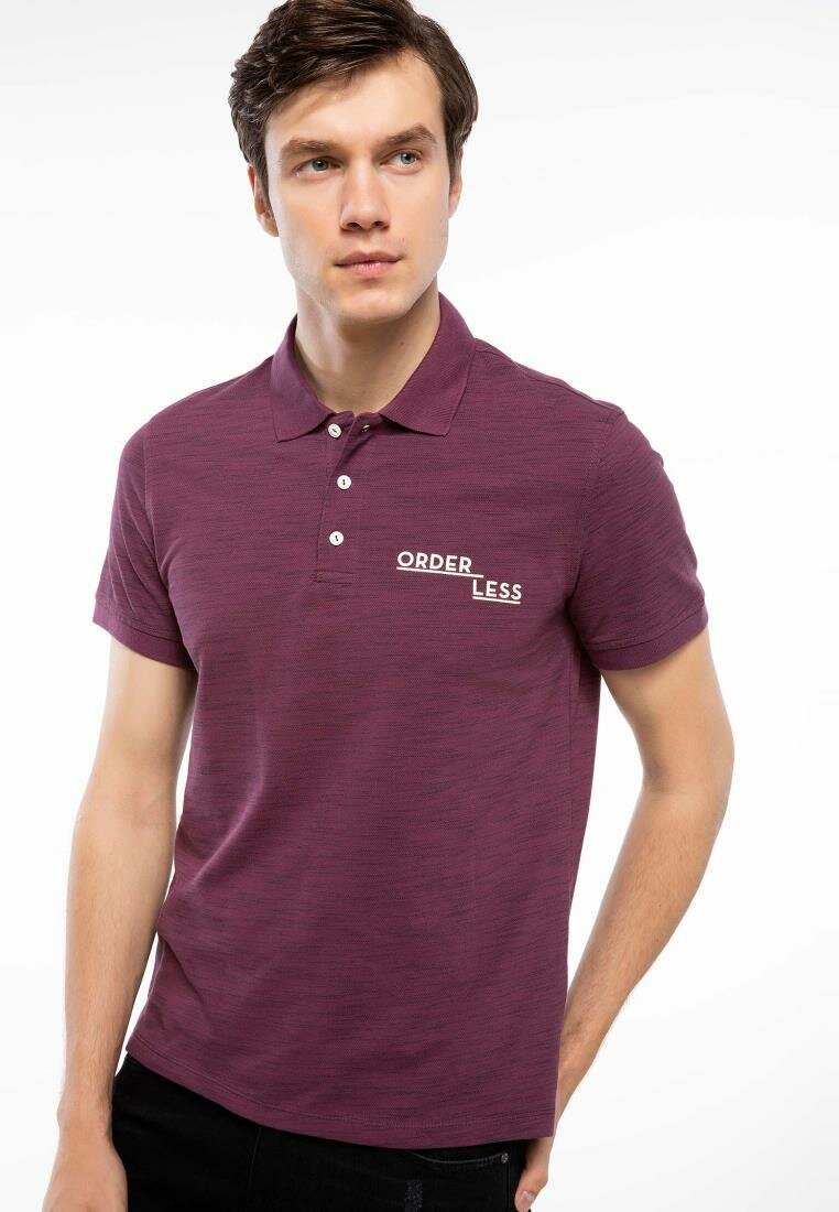 DeFacto Man Purplish Red Polo Shirt Men Casual Short Sleeve Polo Shirts Men Summer Breathable Business Shirts-J0884AZ18AU