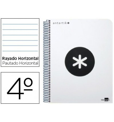 SPIRAL NOTEBOOK LEADERPAPER ROOM ANTARTIK HARDCOVER 80H 100 GR HORIZONTAL MARGIN WHITE COLOR 4 Units