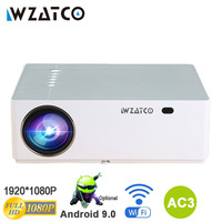WZATCO M20 Full HD 1080P Projector 4D Keystone Android 9.0 WIFI for Smartphone Video 4K Proyector 200inch Home Cinema T26K M19