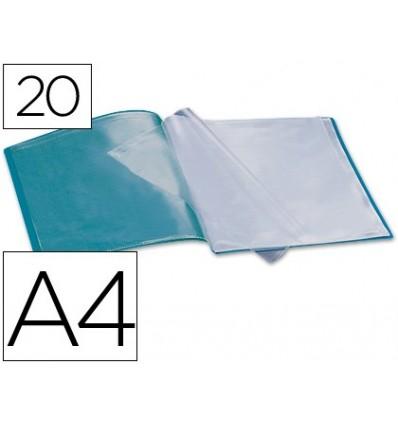 FOLDER LIDERPAPEL SHOWCASE 37913 20 CASES Polyprophylene DIN A4 GREEN