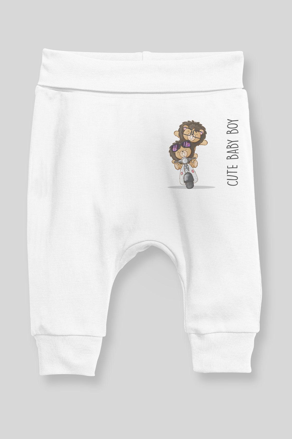 Angemiel Bebe Motor Suren Lindo Leones Bebe Pantalones De Chica De Harem Pantalon Blanco Pantalones Aliexpress