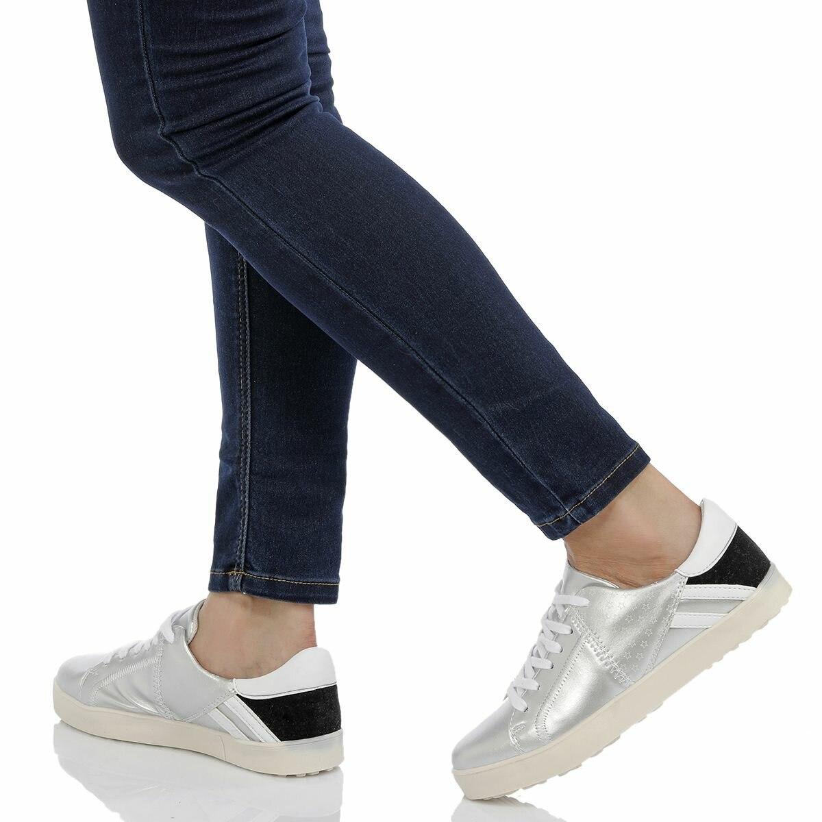 FLO CS18019 Silver Women 'S Sneaker Shoes BUTIGO