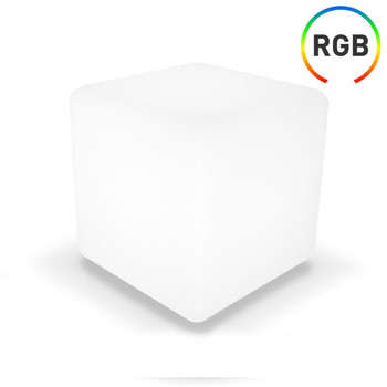 LED Cube RGB Decorative 30x30cm with Control 7hSevenOn Outdoor