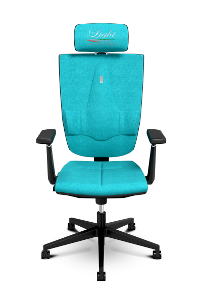 Office Chair KULIK SYSTEM SPACE Turquoise Computer Chair Relief And Comfort For The Back 5 Zones Control Spine