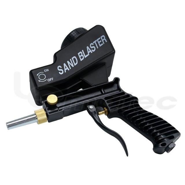 Купить с кэшбэком LEMATEC Gravity Feed Sandblasting Gun Air Sandblaster Sand spray gun for rust remove Sandblaster air tools abrasive machine