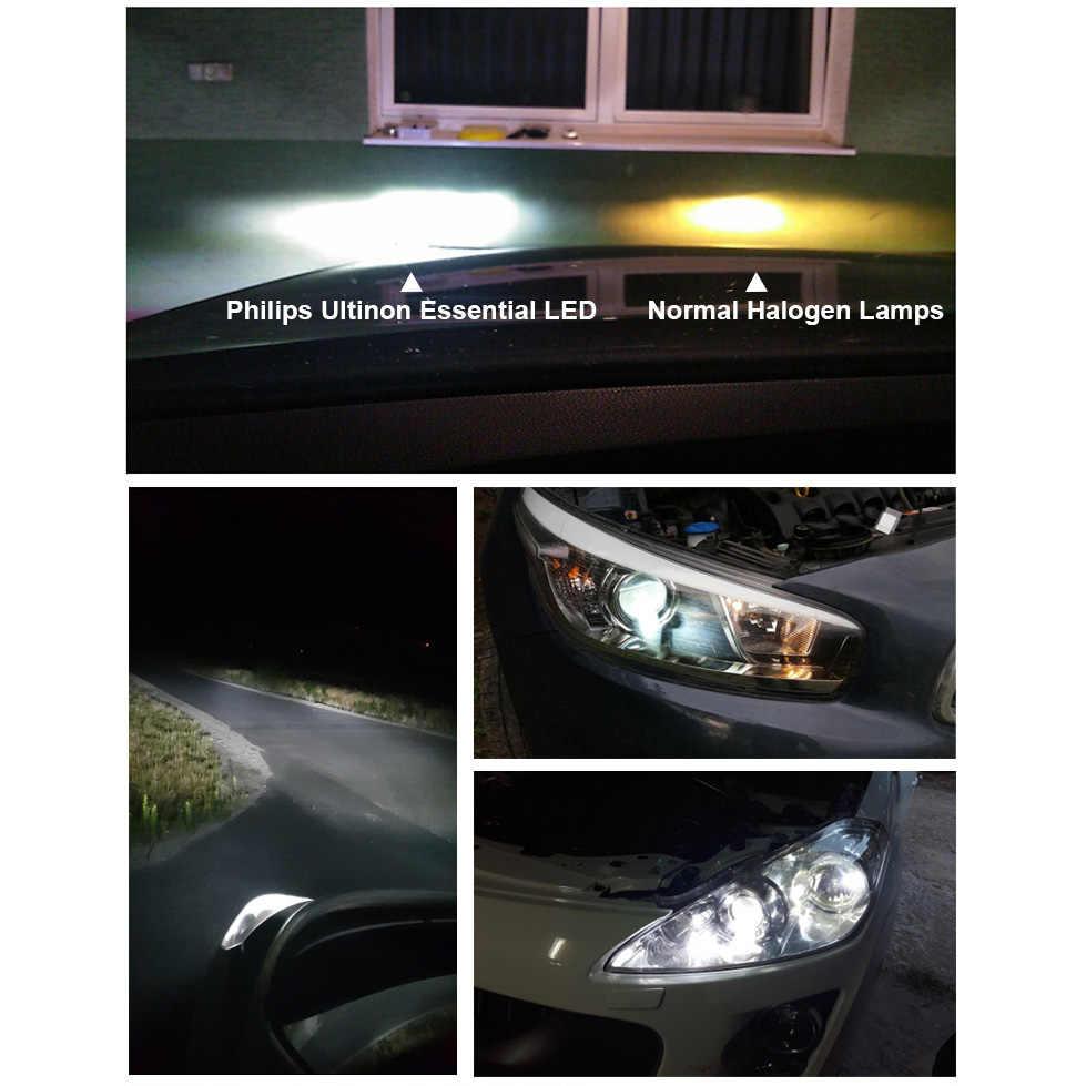 フィリップス LED H4 H7 H8 H11 H16 9005 9006 9012 HB3 HB4 H1R2 Ultinon 不可欠 LED 車 6000 18k ホワイトオートヘッドライトフォグランプ 2X