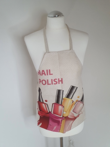 Flower Nail Polish Kitchen Apron photo review