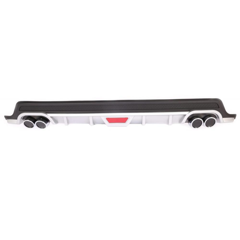ROXFORM Black and Gray Chrome Double Exhaust Appearance Rear Bumper Diffuser  for Hyundai İ20