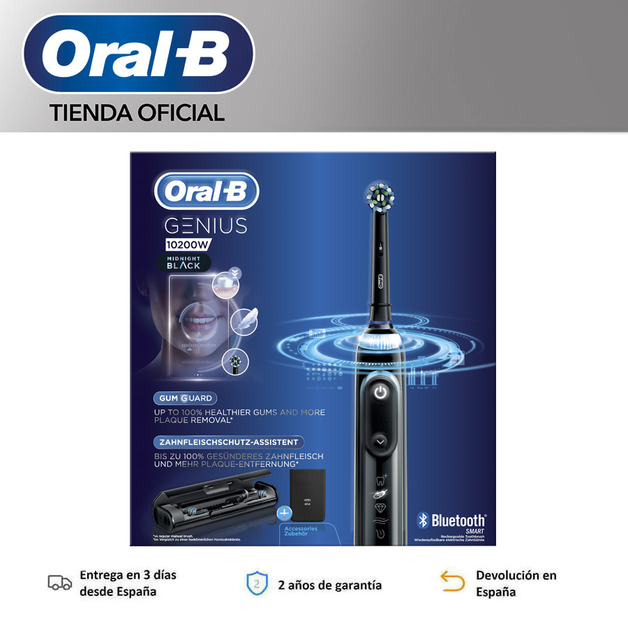 Oral-B Genius 10200W 10200W B Oral toothbrush Electric rechargeable oral b toothbrush genius Black image