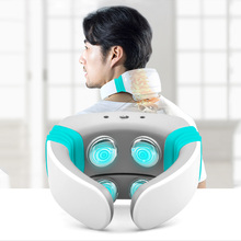 Electric Pulse Acupuncture Vibration Far Infrared Heating Neck Massager Cervical Magnetic Therapy Relaxation Health Care Product