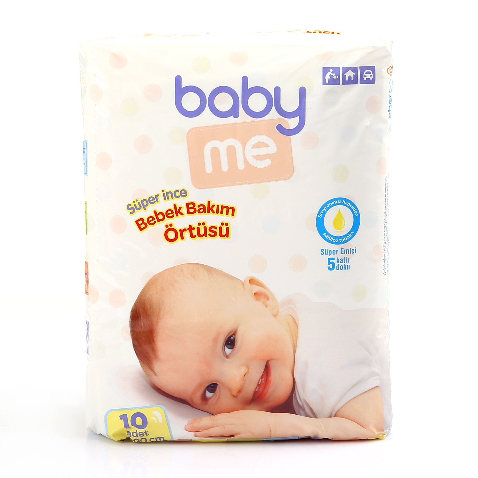 Ebebek Baby&me Super Thin Diaper Changing Mat 60x90 Cm 10 Pcs