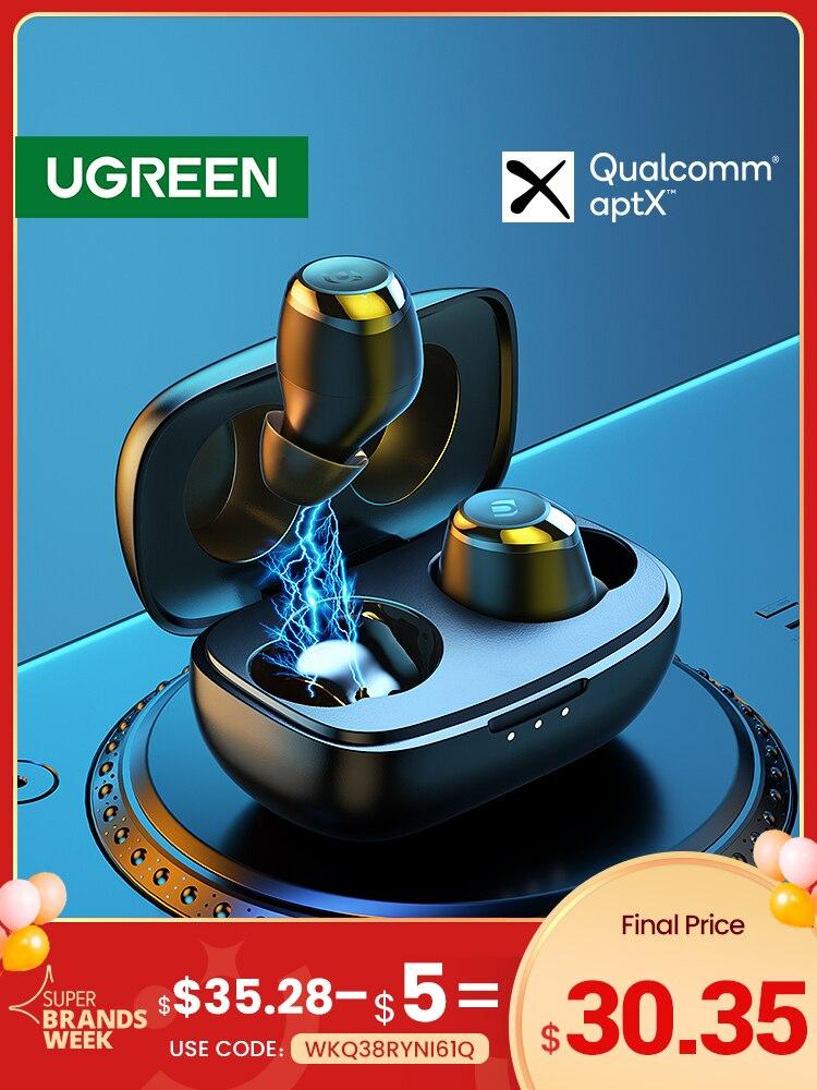 UGREEN HiTune TWS Headphones Wireless Bluetooth Earphones aptX with Qualcomm Chip True Wireless Stereo Earbuds Headset Headphone|Bluetooth Earphones & Headphones| - AliExpress