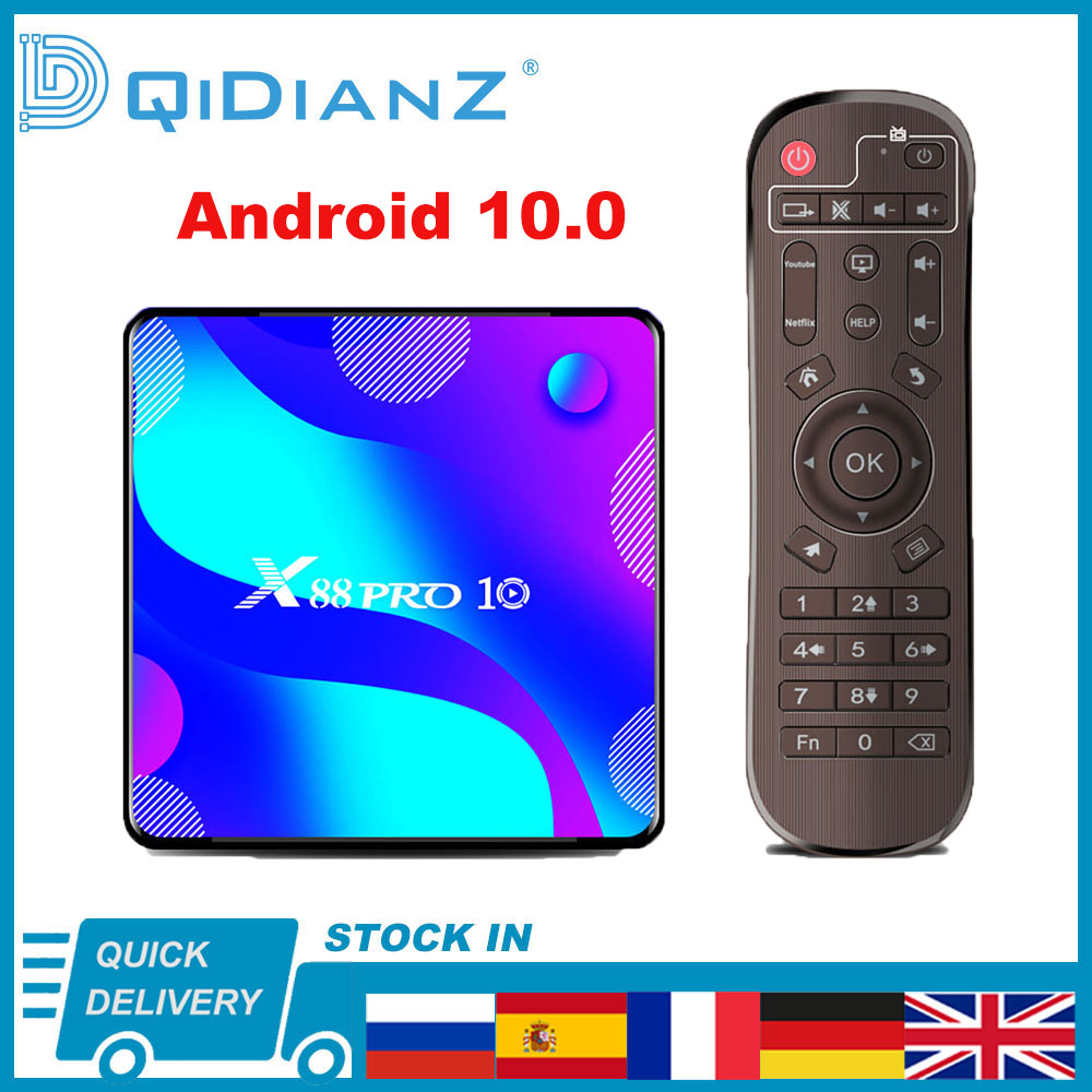X88 PRO 10 Android 10,0 Smart TV Box 4K 1080P RK3318 Wifi BT 4,0 X88PRO 10 Quar Core 64-битный медиаплеер