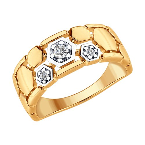 Ring. Made Of Gilded Silver With Cubic Zirkonia