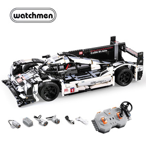 Image 3 - Cadaテクニックリモートコントロールレーシングカースポーツカー煉瓦スピードチャンピオンズ市mocビルディングブロック2.4グラム電源機能モーター