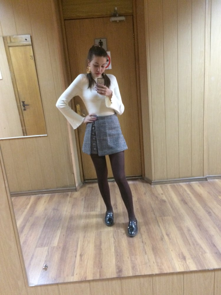 Spring Office Lady Shorts Skirts Fashion Female Plaid Slim Casual Button Mini Shorts photo review