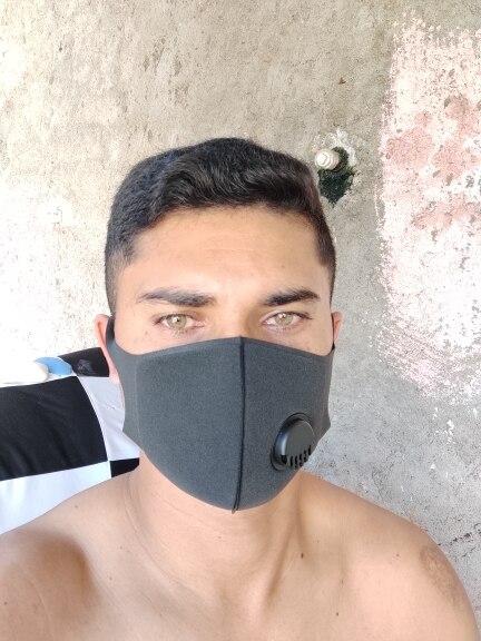 Máscara 3d Impermeável com Válvula Respiratória com Carvão Ativado 10 Unidades photo review
