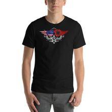 Мужская футболка с американским флагом Албании национальным