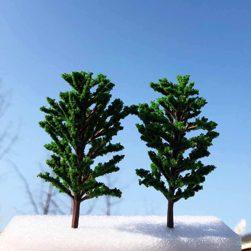 1:87HO Scale 2/PACK Realistic Model Tung Tree Landscape Model Train Railway Layout Scenery Dioramas DIY Gaming Miniature Models