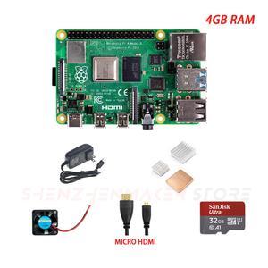 Image 4 - ShenzhenMaker Mağaza Ahududu Pi 4 Model B Temel Kiti 1GB 2GB 4 GB STOKTA