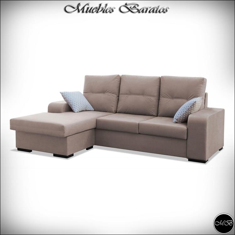 Sofa Chaise Longue, 3 Seater, Walking Street, Beige Ref-70