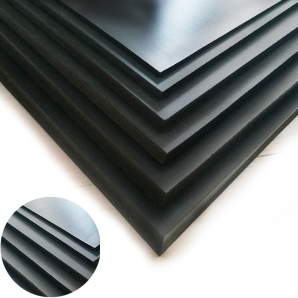 Black ABS Production Material Board 20x25cm Train Construction Toy DIY Model Styrene Board House Production Landscape 1 / 5mm1pc