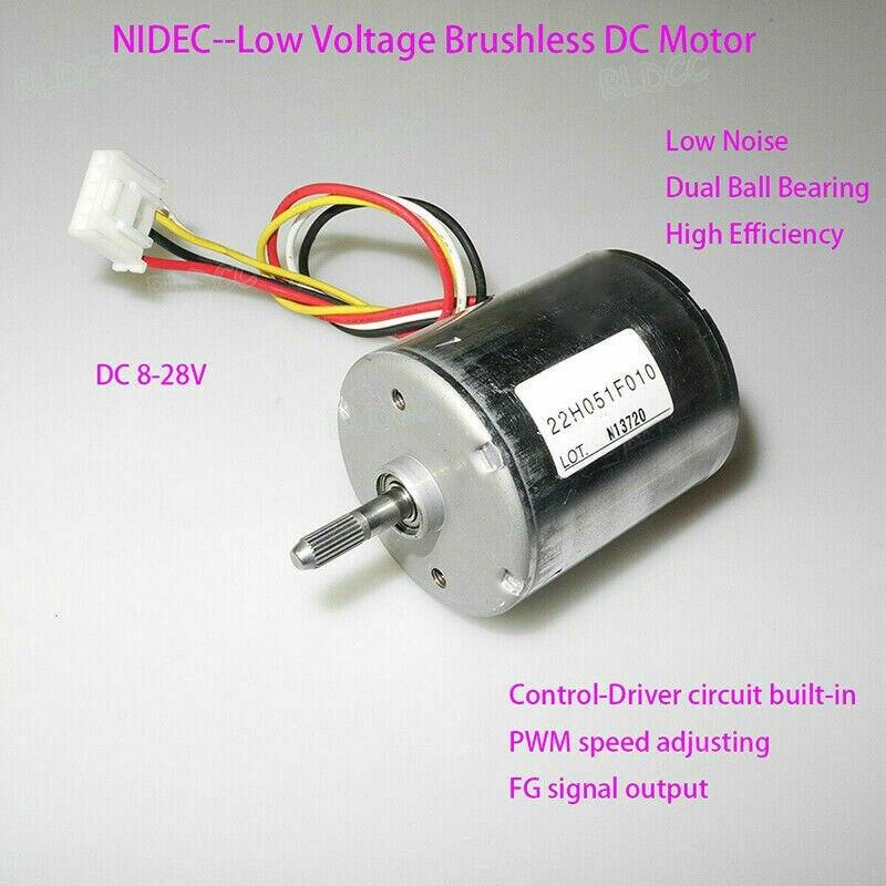 22H051F 12V 24V DC Brushless Engine High Torque PWM BLDC