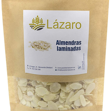 Lazarus almond laminated 100g. In bag with ZIP closure for perfect after-open preservation.