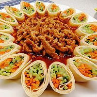 #百变鲜锋料理#年夜饭上一道创新版,团圆美满的~京酱肉丝的做法图解8
