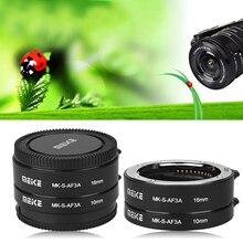MEIKE MK S AF3A Auto Fokus 10mm 16mm Macro Extension Tube Set für Sony E/FE NEX3 NEX5 NEX6 NEX7 A5000/A6000/A7/A7M2 Serie Cam