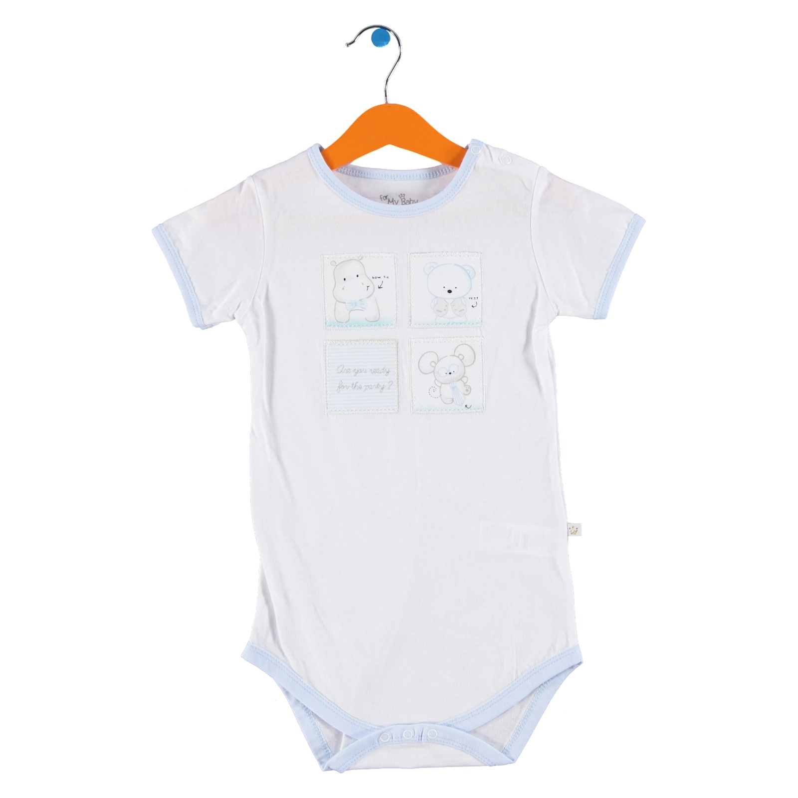 Ebebek For My Baby Boy Tomtom Short Sleeve Bodysuit