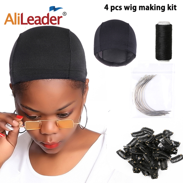 Alileader Wig Making Kit Dome Cap/Sewing Thread/C-Type Needles/Clips Hair Tools For Women Diy Wigs Making Material Hair Clips