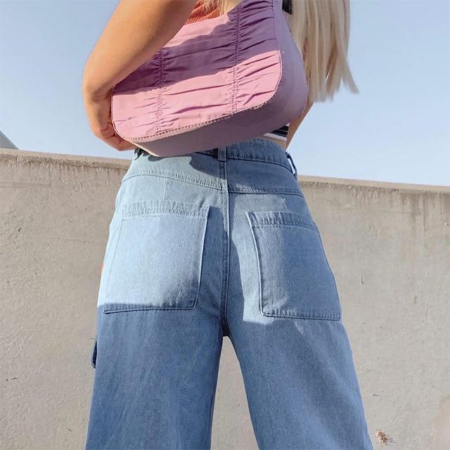 90s Big Pocket Wide Leg Jeans  5