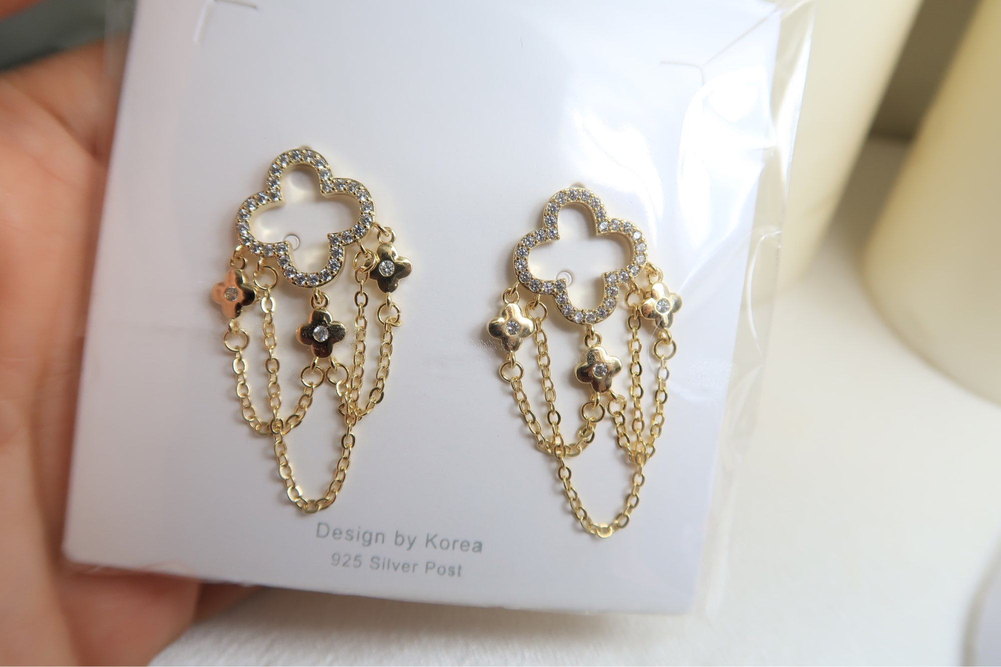 Charm 14K Real Gold Long Style Tassel Earring for Lady Elegant Zirconia Drop Earring Feminia Gorgeous Jewellery Accessories photo review