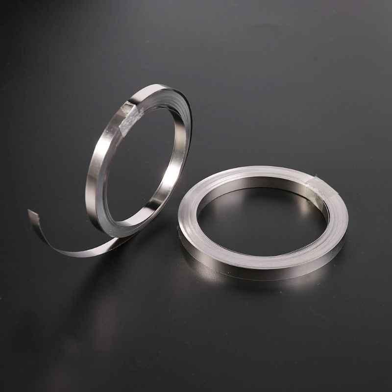 Лента никелированная 10м 0,15х8мм для точечной, контактной сварки аккумуляторных сборок, 18650, 21700, ni-cd, li-ion, ni-mh, AA