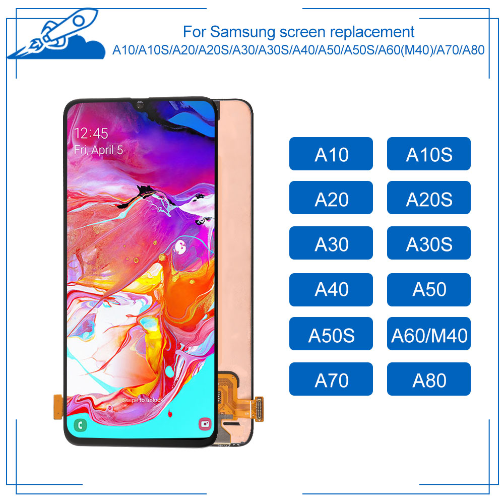 OEM AMOLED Für Samsung Galaxy A10 A10S A20 A20S <font><b>A30</b></font> A30S A40 A50 A50S A60 M40 A70 A80 <font><b>LCD</b></font> Touch screen Display Digitalisieren Montage image